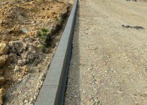 Bordure T2 beton en lotissement
