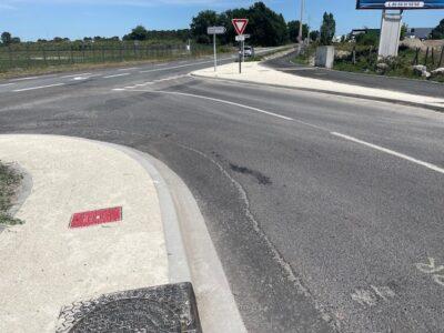 aménagement routier caniveau béton